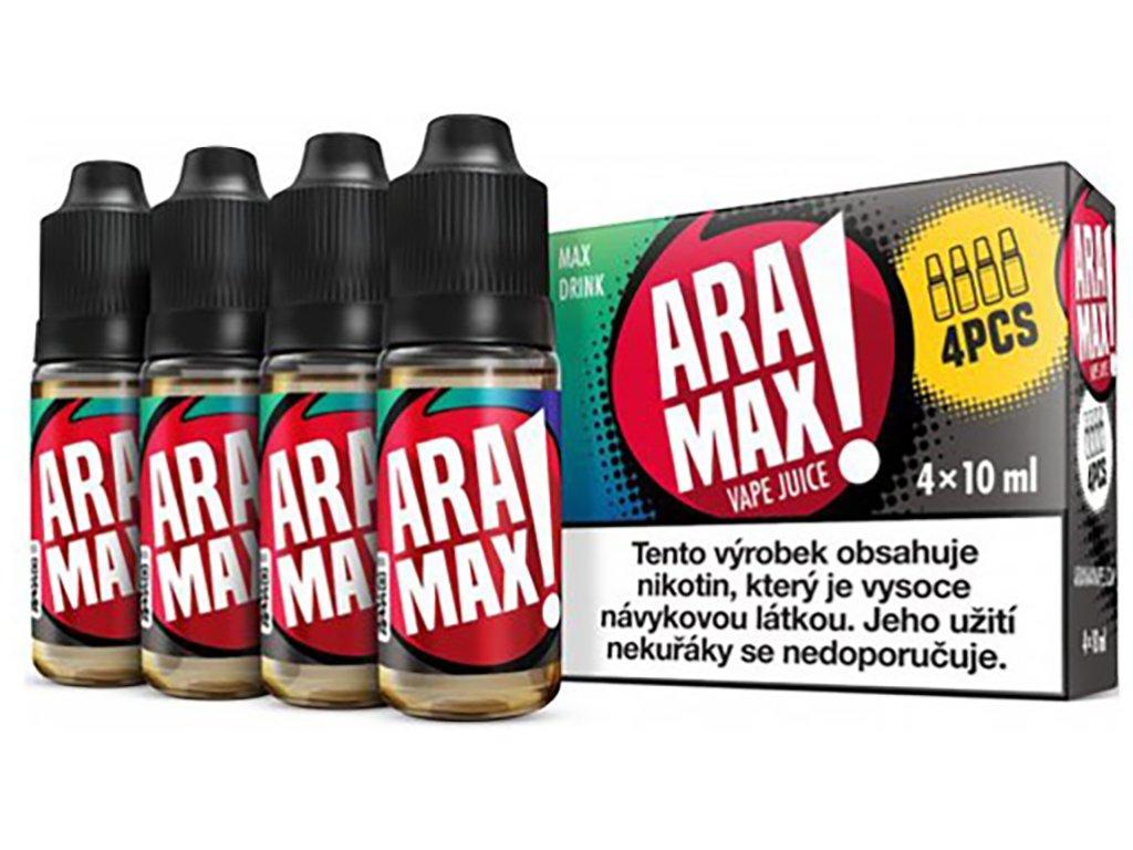 7862 1 e liquid aramax max drink 4x10ml 3mg nikotinu ml