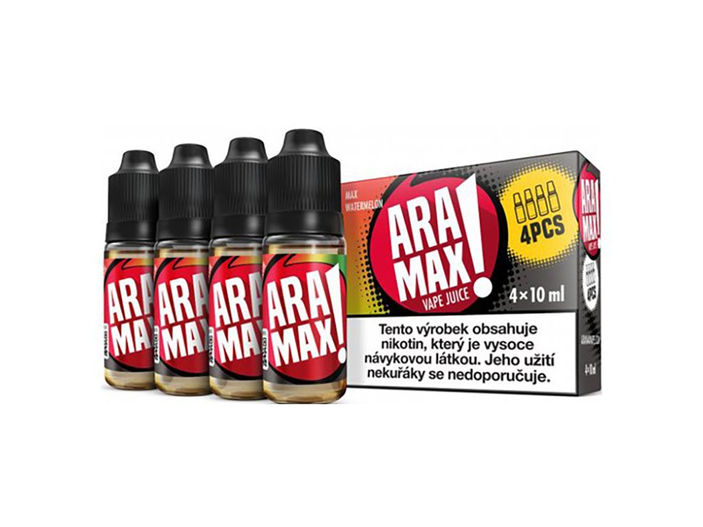 7877 1 e liquid aramax max watermelon 4x10ml 3mg nikotinu ml