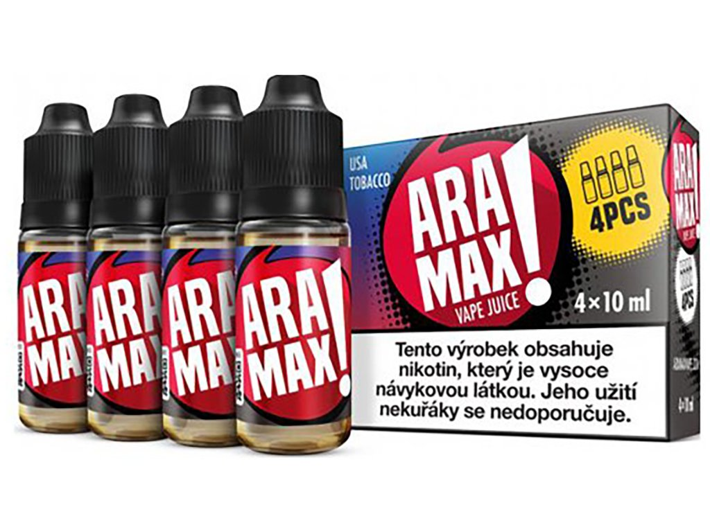 7880 1 e liquid aramax usa tobacco 4x10ml 3mg nikotinu ml
