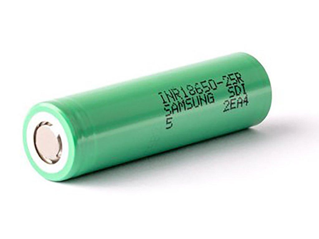 8573 1 samsung inr18650 25r baterie 12c 20a 1 ks 2500mah