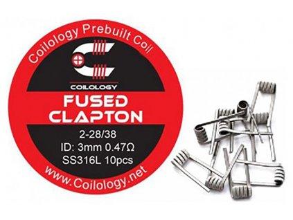 10139 1 predmotane spiralky coilology fused clapton ss316l 0 47ohm 10ks