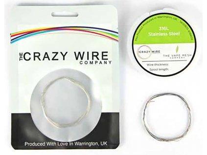 10916 1 the crazy wire ss316l nerezovy odporovy drat 10m 39ga 0 1mm