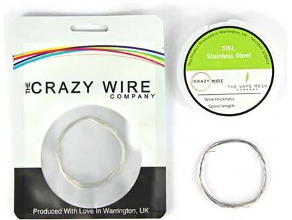 10925 1 the crazy wire ss316l nerezovy odporovy drat 10m 27ga 0 375mm