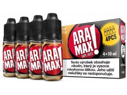 e liquid ARAMAX Max Peach 4x10ml