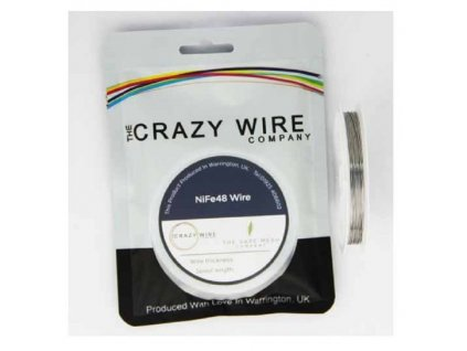The Crazy Wire Company The Crazy Wire NiFe48 NiFe odporový drát 10m 29GA 0,3mm