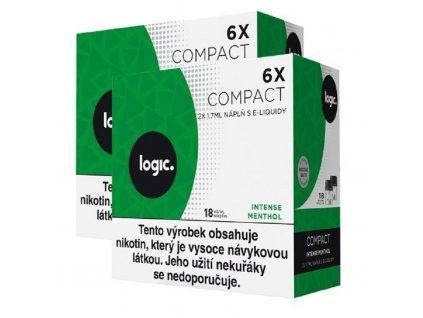 JTI Logic Compact náplň Intense Menthol 1,7ml 18mg 12ks