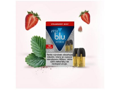My Blu náplň Strawberry Mint Intense 1,5ml 18mg