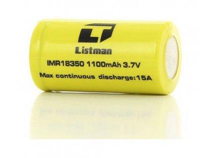 Baterie Listman IMR 18350 1100mAh, 9A