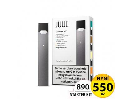 Elektronická cigareta JUUL Starter Kit - Šedá