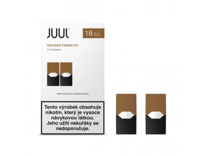 Cartridge JUUL Golden Tobacco 9mg - 2ks