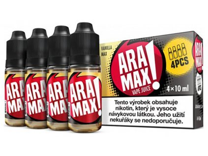7883 1 e liquid aramax vanilla max 4x10ml 3mg nikotinu ml