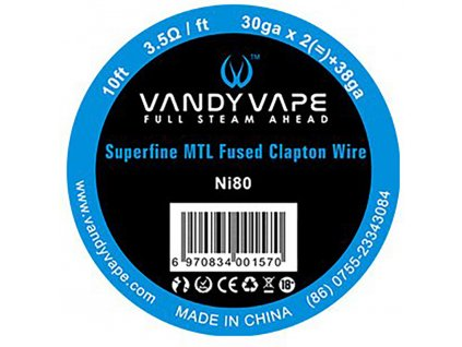 8720 1 vandy vape superfine mtl odporovy drat ni80 3m