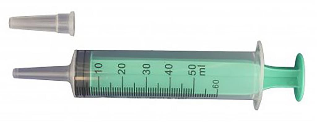 Plastová injekční stříkačka s objemem 50ml