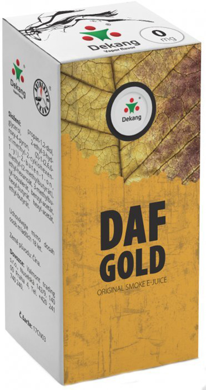 e-liquid Dekang DAF GOLD, 10ml Obsah nikotinu: 0 mg