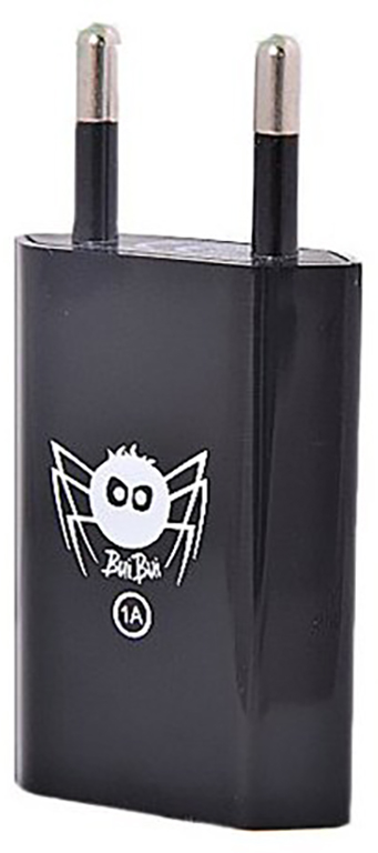 BuiBui Síťový adaptér s USB 1A (1000mAh) - černý