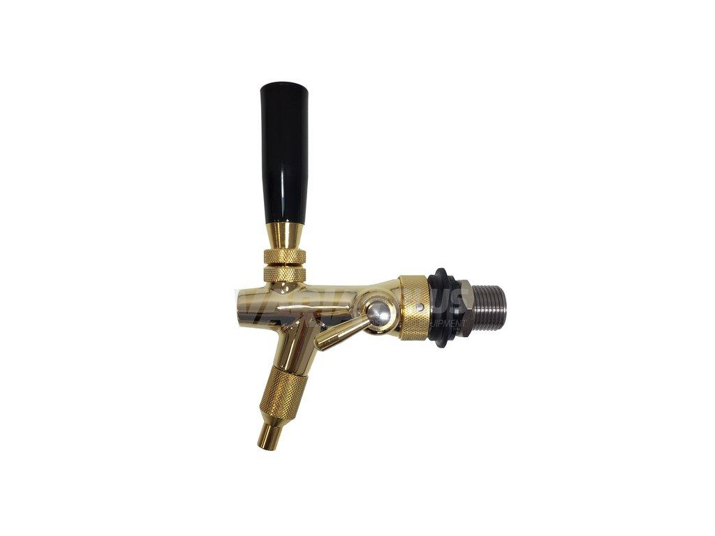 Výčepní kohout Sparkler zlatý 35 mm