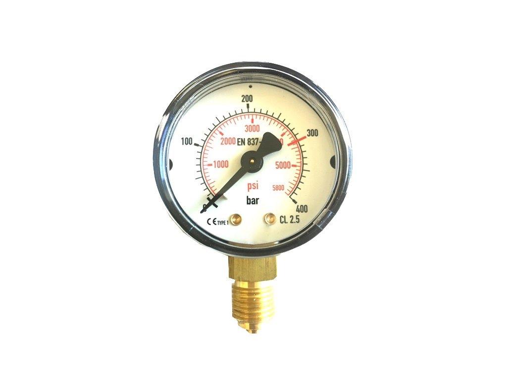 Manometr N2 vysoký tlak 400 bar