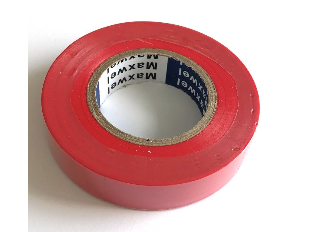 Izolační páska PVC červená 15 mm x 20 m