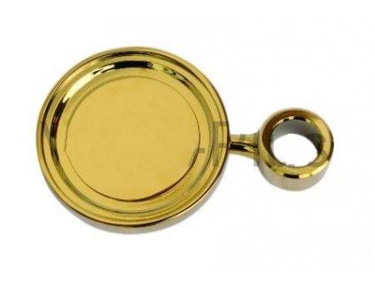 Medailon zlatý PVD, D=90, s distančním kroužkem