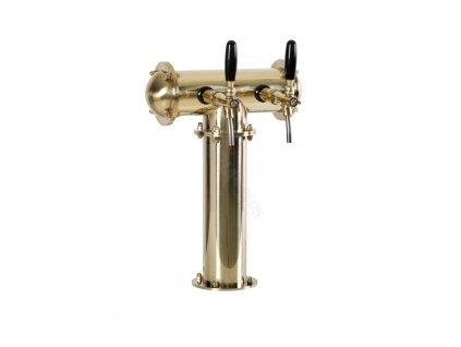 Výčepní stojan T2 zlatý komplet kohouty pákové medajlony standard dochlazení