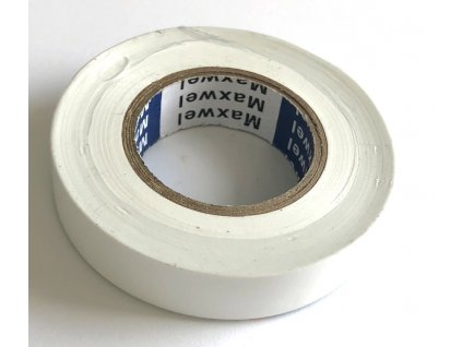 Izolační páska PVC bílá 15 mm x 20 m