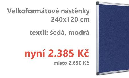Textilní nástěnka BQ Economy - 120x240 cm
