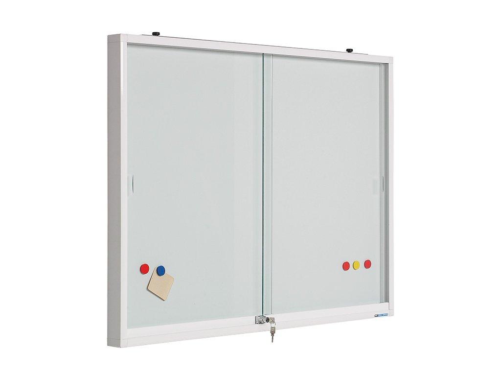 Interiérová vitrína STV, posuvné dveře - popisovatelný keramický povrch