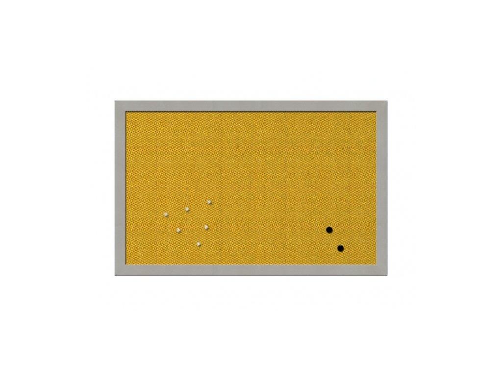 Nástěnka MESH - žlutá - 40×60 cm