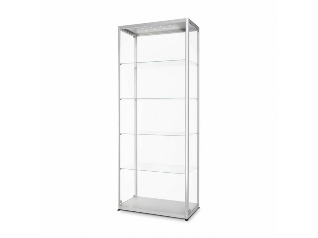 Skleněná prodejní vitrína - VR2-800 LED