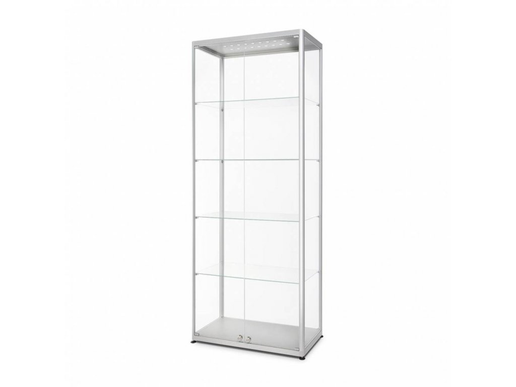 Skleněná prodejní vitrína - VR2-800F LED