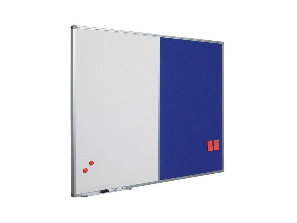 Kombinovaná tabule (bílá-modrý textil), Softline