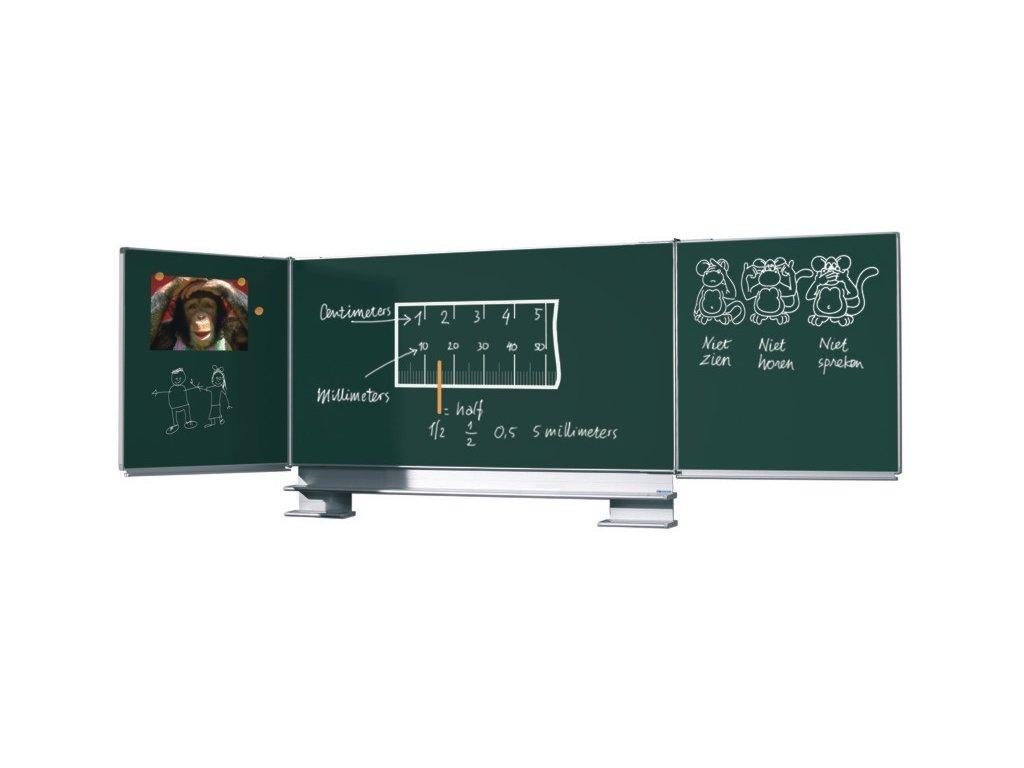 Křídlová tabule Triptych - zelená