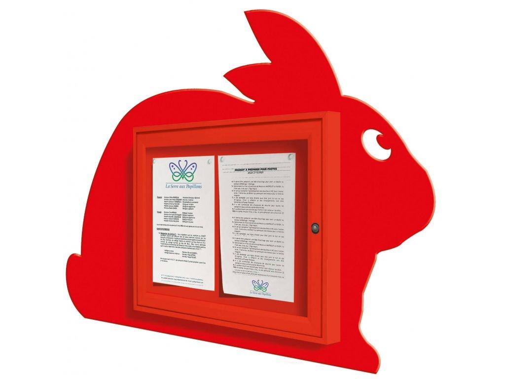 Školní dětská vitrína - králík