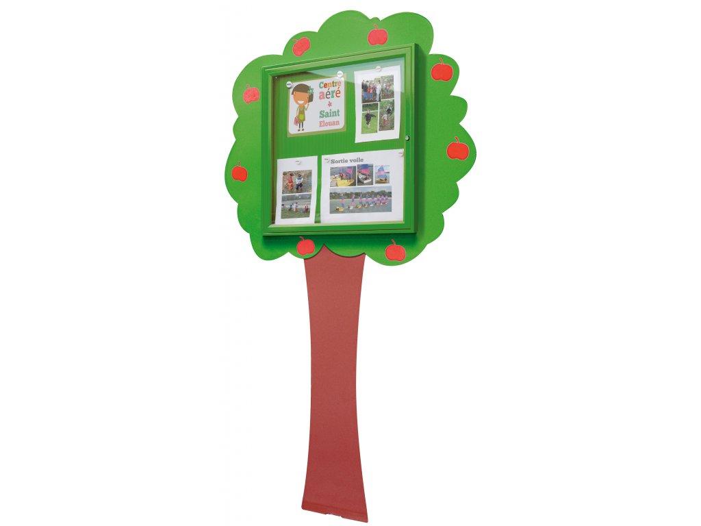 Školní dětská vitrína - kovový strom