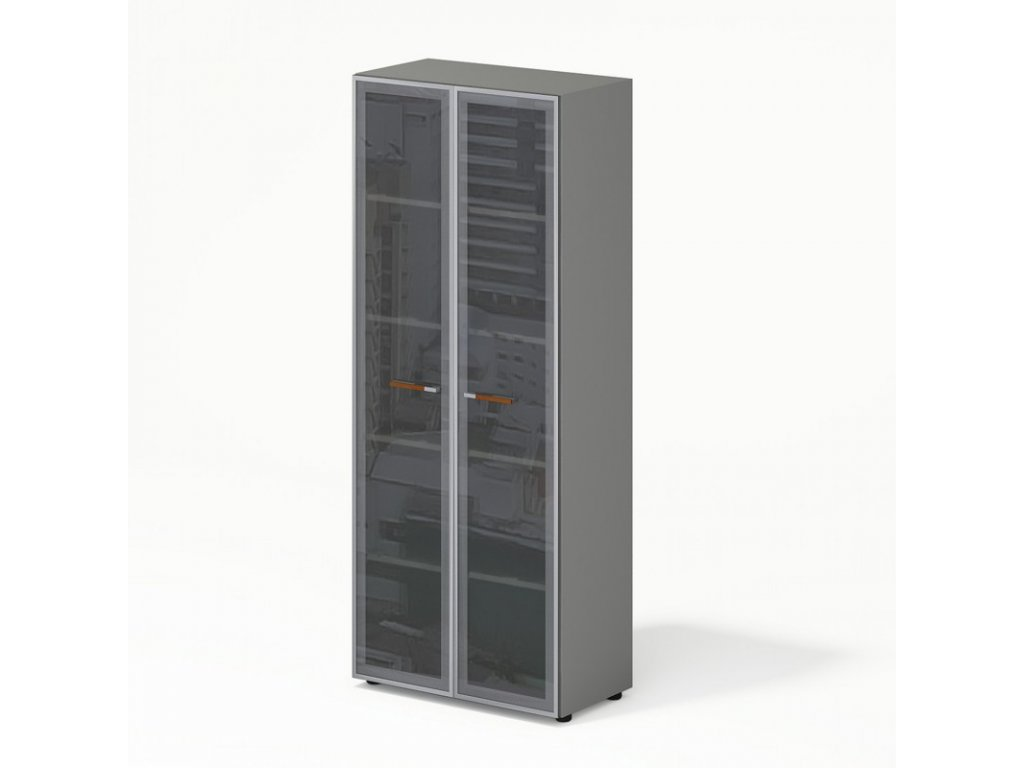 Skříň Wels, skleněné dveře – 79,8×42,5×196,5 cm