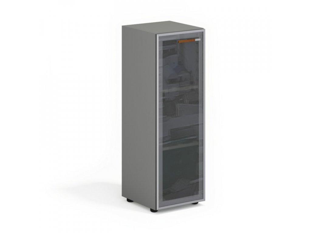 Skříň Wels, skleněné dveře, 39,9×42,5×119,5 cm