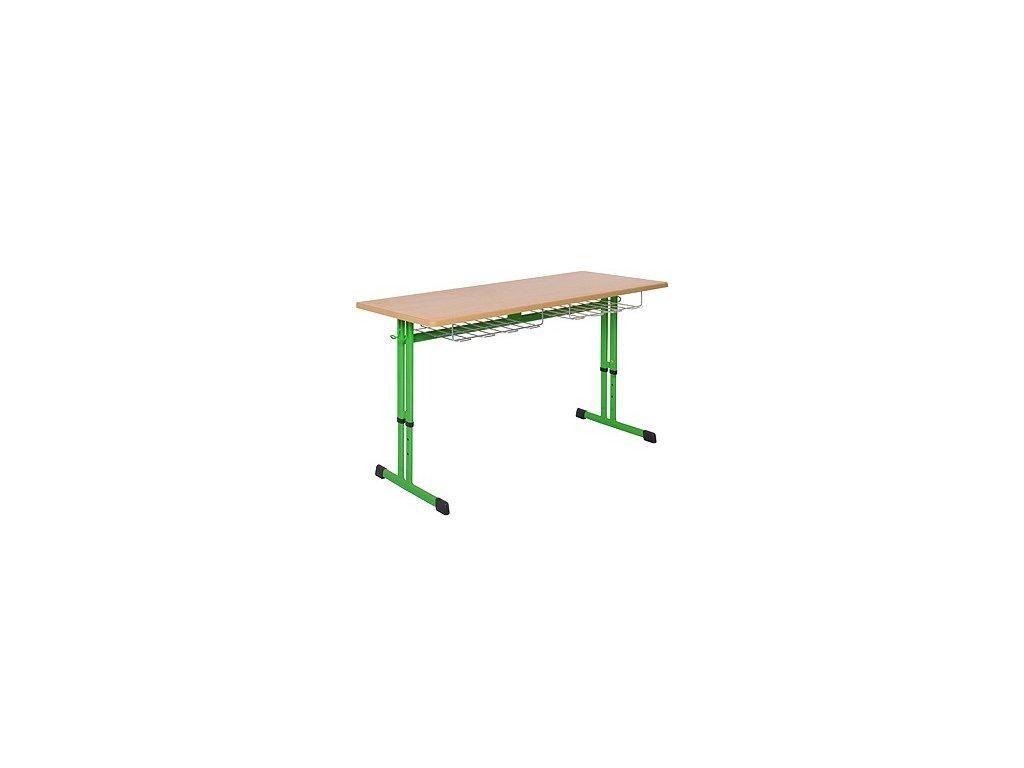 Školní lavice dvoumístná DL 21V