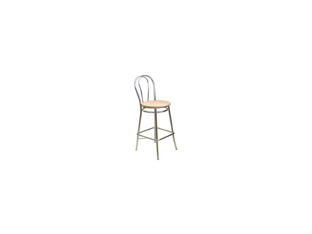 Barová židle Tulip-Hocker dřev