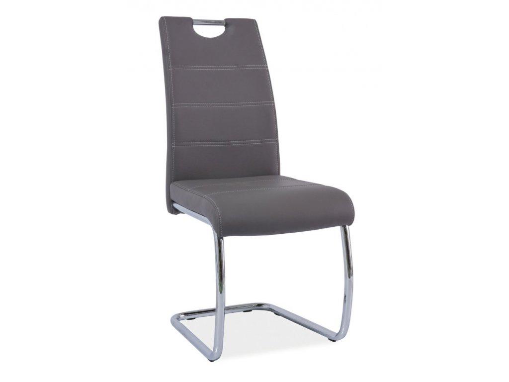 Jídelní židle H666 - šedá