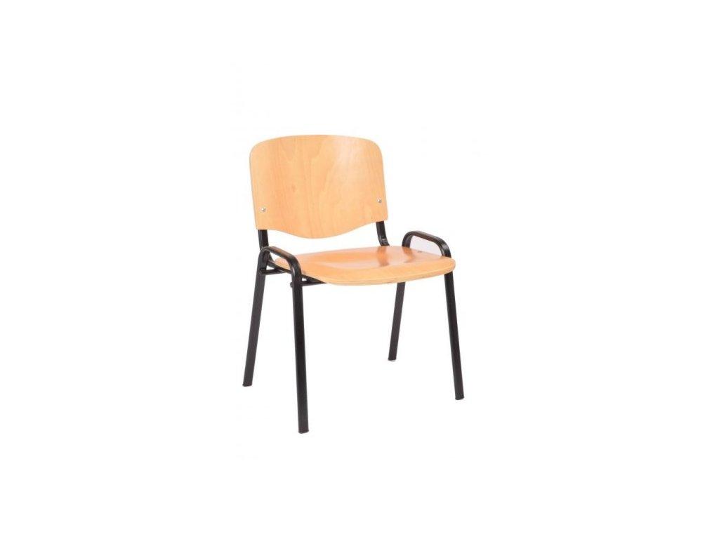 Konferenční židle 12, buk - černá