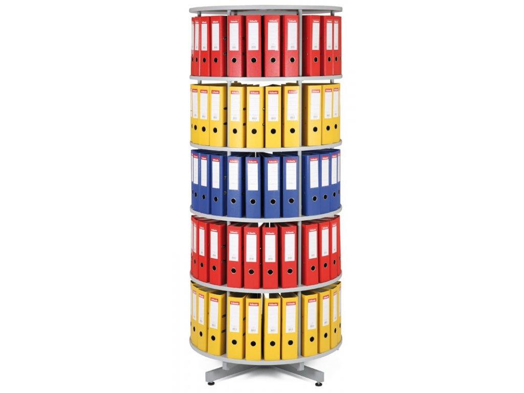 Archivační skříň otočná - 5 pater - šedá
