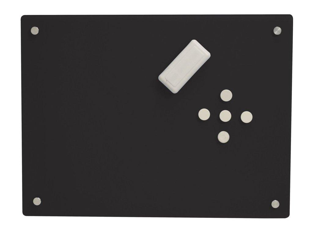 Skleněná tabule Glass2Write, magnetická - černá