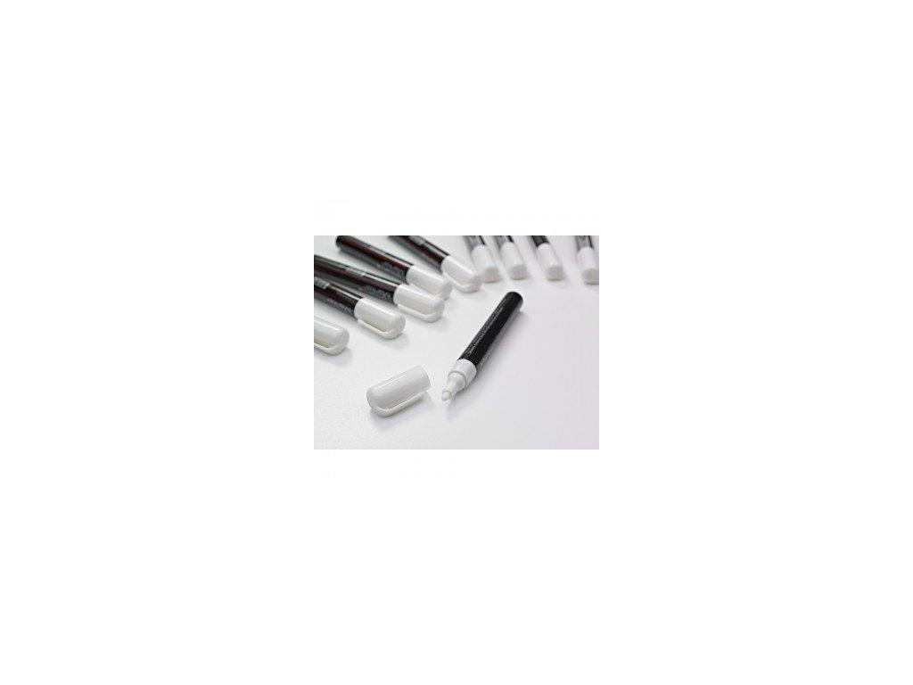 Popisovače skleněných tabulí - 3 mm, 10 ks, bílé