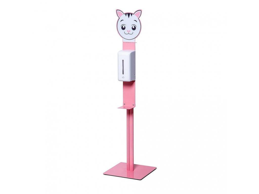 Dětský stojan na dezinfekci - kočka