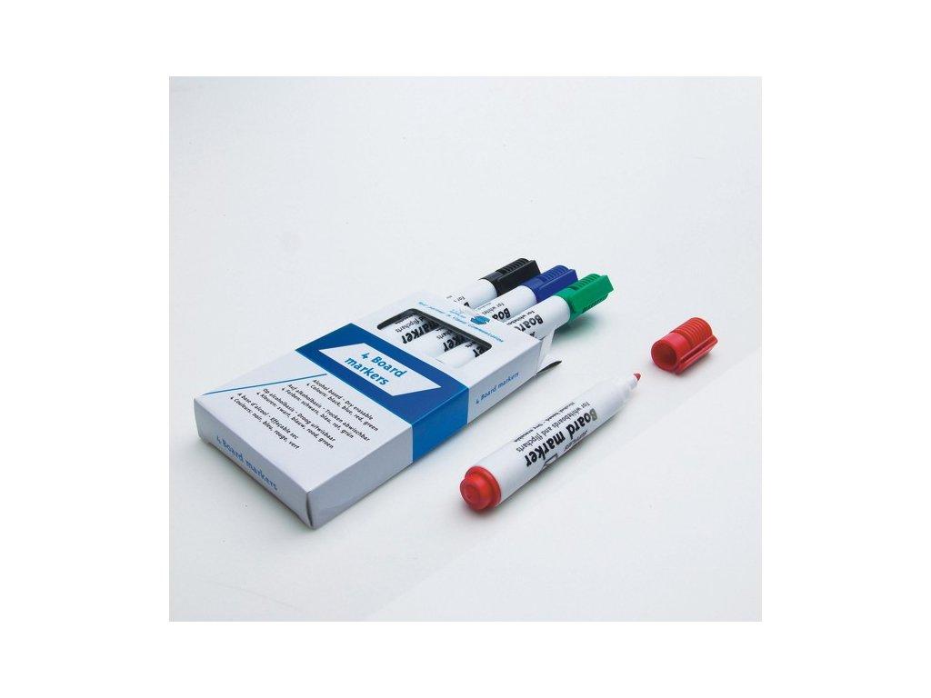 Popisovače bílých tabulí a flipchartů - 4 ks - různobarevné