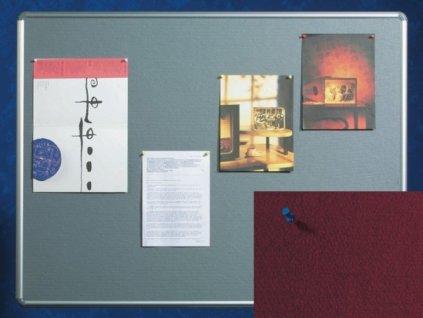 Textilní nástěnka Design - červená - 120×90 cm