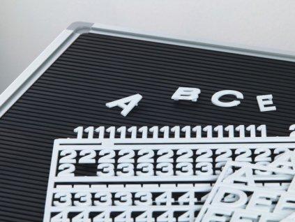 Sada písmen bílá, 10 mm, sada 486 písmen