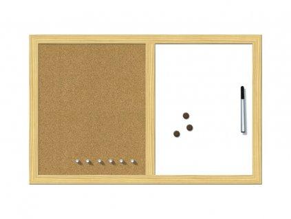 Kombinovaná tabule WOOD - rám borovice