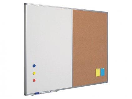 Kombinovaná tabule (bílá-korek), Softline