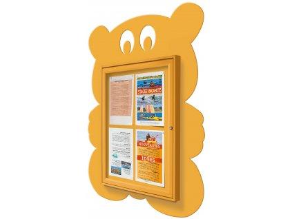 Školní dětská vitrína - medvěd